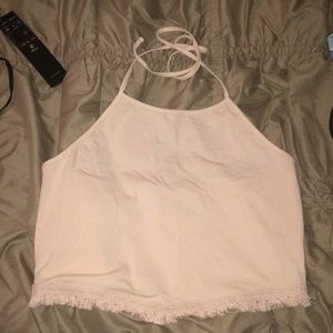 Brand new pale pink crop top